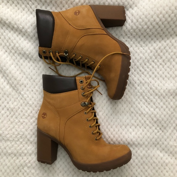 56298c44691 Timberland Camdale Leather Block Heel Field Boots